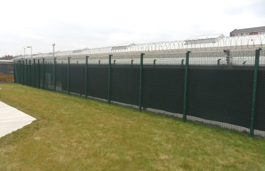 AcoustiFence installed on Transport for London chainlink perimeter fence